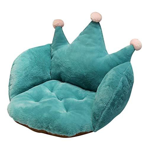 zhichy Cama de invierno para gato, color sólido, con forma de corona, cojín de peluche, cojín de asiento, tela súper suave y duradera, suministros para mascotas, camas de lujo para mascotas