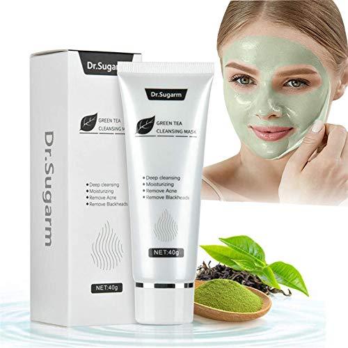 Té Verde Espinilla Mascarilla Cuidado de la Piel para Eliminar el acné y la Nariz Limpieza Profunda para el Cuidado de la Piel, Limpieza Profunda Cuidado de la Piel