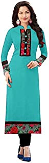 Morpich Fashion Women's Cotton Semi-stitched Salwar Suit (1002FIROZI_Multicolored_Free Size)