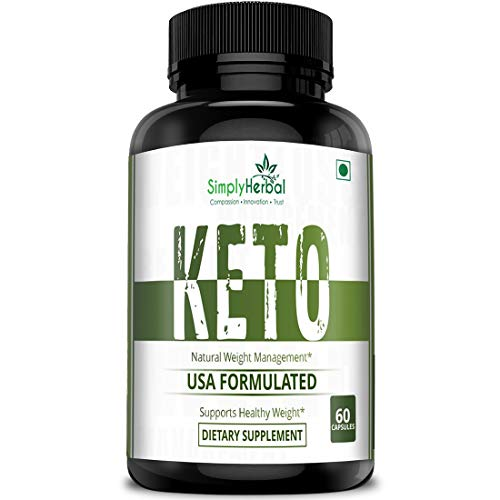 Simply Herbal Keto Capsules for Weight Loss Natural & Advanced Fat Burner Supplement 800 MG, 60 Capsules, Green Tea Extract, Green Coffee Extract and Garcinia Cambogia Extract (1)