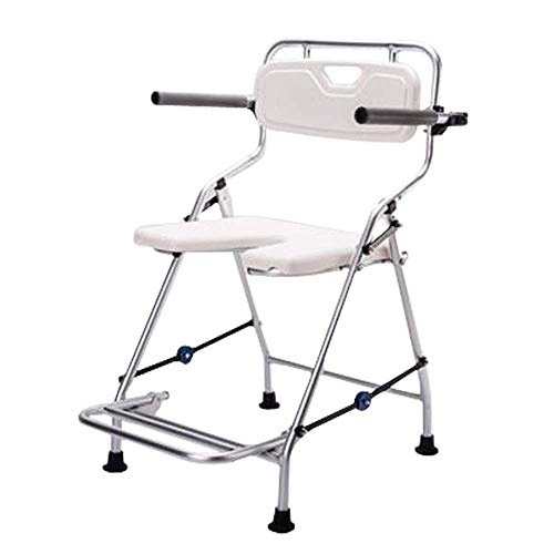 FTFTO Daily Equipment Shower Chair Adjustable Bath and Shower Chair with Back Elderly Bathtub Bath Tub Shower Seat Chair for Seniors and Injured (Color : White Size : 26x51cm)