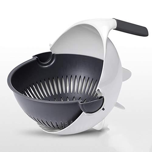 Shability Küchenabtropfer Mehrzweck-Abflusskorb, Doppelschicht-Design Drehschnalle Design Bequemer, Küchenspüle yangain