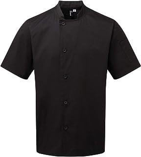 Premier Adults Unisex Essential Short Sleeve Chefs Jacket
