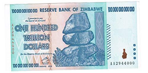 Zimbabwe $100 Trillion Dollar Note
