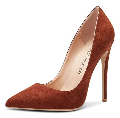 Castamere Womens Sky High Heels Basic Pumps Pointed Toe Stilettos 12CM Heel Shoes