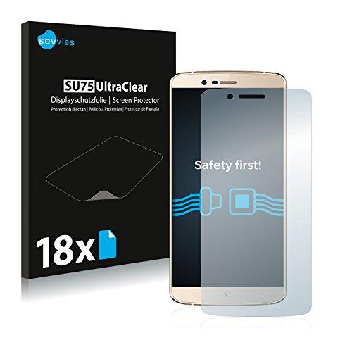 Savvies 18x Schutzfolie kompatibel mit Elephone P8000 Bildschirmschutz-Folie Ultra-transparent