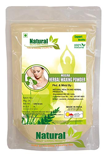 Natural Health and Herbal Products Mogra Herbal Waxing Powder | Instant Hair Remover (100 g)