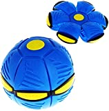 Yxiang Bola de Escape de Juguete Bola mágica de ovni Bola de Escape Bola de deformación Pequeño Juguete Boomerang (Azul)