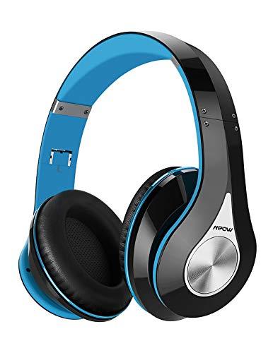 Mpow 059 Auriculares Diadema Bluetooth con Micrófono CVC 6.0, 65 hrs de Duración, Sonido Estéreo, Auriculares Diadema Inlámbricoa para TV, Cascos Bluetooth Diadema Plegable para Skype, PC, Móvil