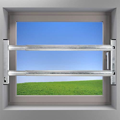 Fenstersicherung Sicherungsstange Türsicherung Einbruchschutz 2Fach 640-1000mm verzinkt