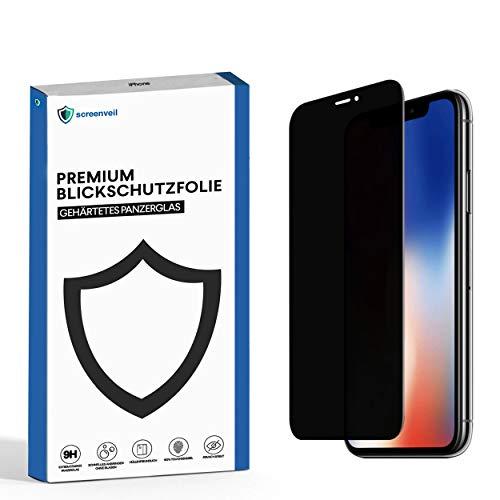 Screenveil - Sichtschutzfolie für iPhone 6/6s/7/8 aus gehärtetem Glas - Premium Blickschutzfolie - schützt sicher vor fremden Blicken und Schäden