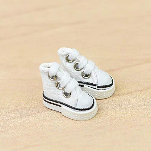 1 paar Mini Canvas Puppen Schuhe Spielzeug für Griffbrett Schuhe Finger Skateboard Schuhe, Größe: 3,5 x 2 x 3cm