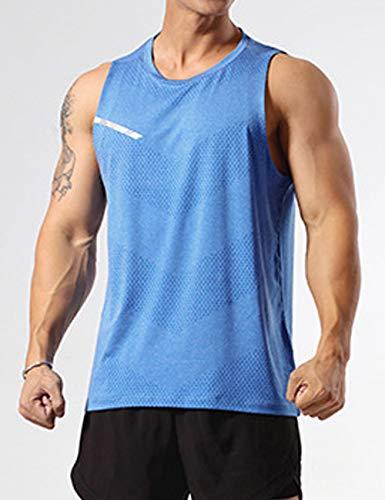 GYMAPE Canotte da Allenamento atletiche da Uomo Canotte da Corsa muscolose Senza Maniche Allenamento Quick Dry Gym Activewear