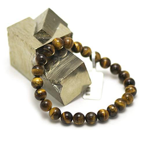 Miracles Minéraux - Pulsera de piedra natural semipreciosa, 8 mm, más de 40 gemas a elegir