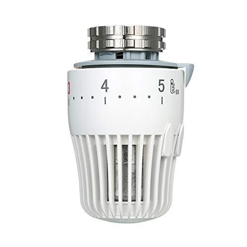 Weehey Válvula Termostática del Radiador Válvulas de Control de Temperatura Radiadores de Plomería No Eléctricos Autoajustables Ahorro de Energía Anticongelante Portátil Compacto Duradero