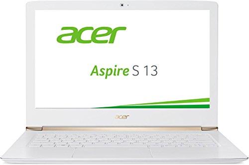 Acer Aspire S 13 (S5-371-72W0) 33,8cm (13,3 Zoll Full HD IPS) Laptop (Intel Core i7-6500U, 8GB RAM, 256GB SSD, Intel HD Graphics 520, Win 10 Home) weiß