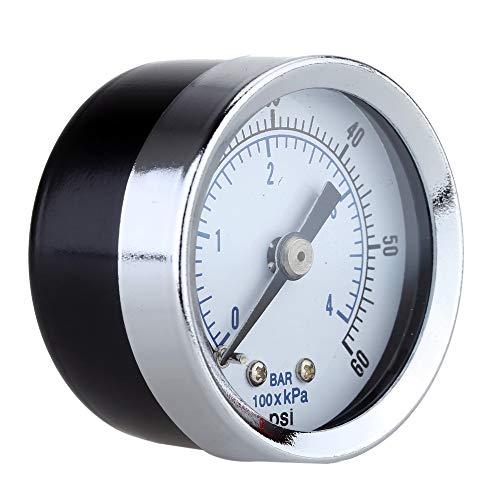 TuToy Ts-Z51 0-60Psi Medidor De Presión 40Mm 1/8 Inch Npt Mini Medidor De Presión Aire Compresor Hidráulico Medidor De Vacío Manómetro Probador De Presión
