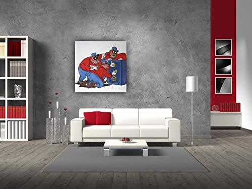 Original Gemälde, Acryl auf Leinwand und Holzkeilrahmen - Die Panzerknacker II - 50 x 50 cm - handgemalt