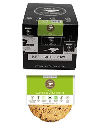 eat Performance® Apple Crumble Cookie (15x 40g) - Bio, Paleo, Glutenfrei, Ohne Milch, Kekse Aus 100% Natürlichen Zutaten