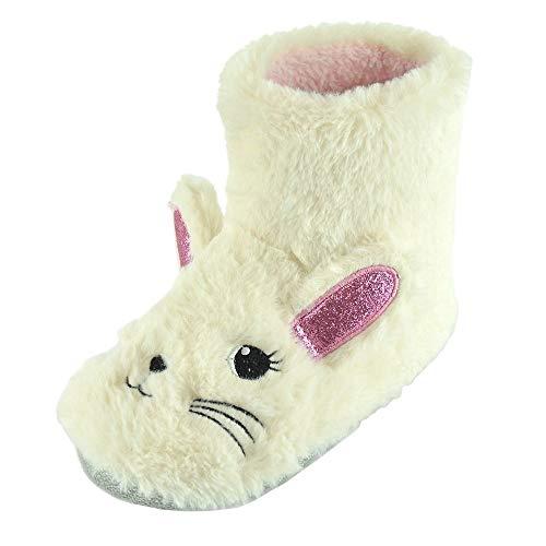 Botines Pantuflas de Conejo para Niños Niñas (30-31 EU) (Crema)