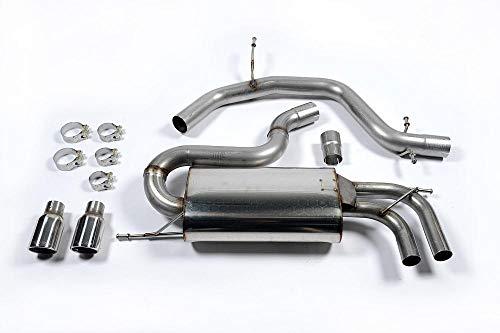 Sport Auspuff Milltek SSXVW147 Anlage ab KAT | DPF (EG/EWG) Kompatibel zu: Golf GTI (147 kW /200 PS) | HSN: 0603 | TSN: ADF | Golf V GTI (1K) 5-Türer Schrägheck