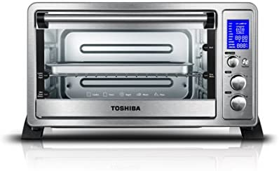 Toshiba AC25CEW SS Digital Toaster Oven with Convection Cooking and 9 Functions 6 Slice Bread product image