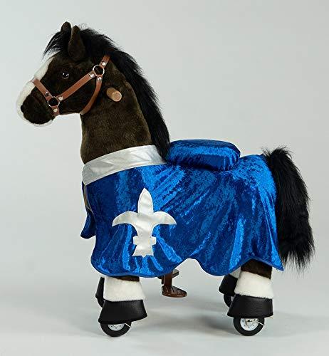 PonyCycle Inline Animals Choky by Modell 2020 (U-321-15), Größe S mit Sound-Modul, Decke & Zügel, Farbe:Blau