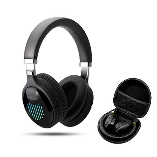 WUHUAROU Deep Bass Wireless Headphones Earphones Foldable Noise Reduction Gaming Wired Headsets with Mic FM MP3 Bag Case (Color : Black, Size : In Bag case)
