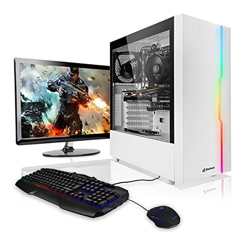 """Megaport PC-Gaming PC-Completo Intel Core i5-10400F • Schermo LED 24"""" • Tastiera Mouse • GeForce GTX1650 • 16GB DDR4 • Windows 10 • 500 GB M.2 SSD • pc da gaming pc fisso desktop pc assemblato completo gaming"""