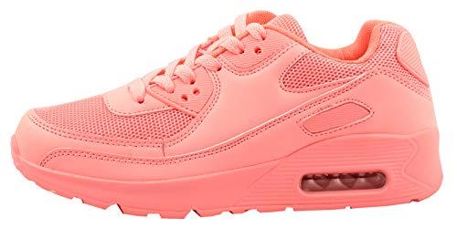 Elara Trendige Unisex Sneaker Damen Herren Kinder Sport Laufschuhe Turnschuhe Chunkyrayan 001-Pink-36