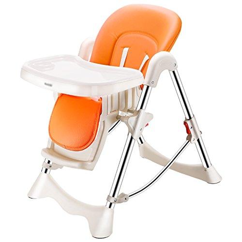 HGNbb La Silla Alta Plegable del bebé de múltiples Funciones, Portable Anaranjado...