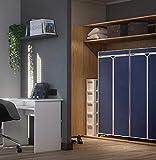 Wenko Kleiderschrank Air, für Reisende oder als zusätzlicher Schrank, stabiles Metallgestell, leichte Montage, Schutz vor Motten, Staub & Schmutz, atmungsaktives Vlies-Material, Navy - 2