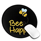 Gaming Mouse Pad Bumble Bee Happy, Premium-Textured Mouse Mat, Non-Slip Rubber Base Mousepad for Computer