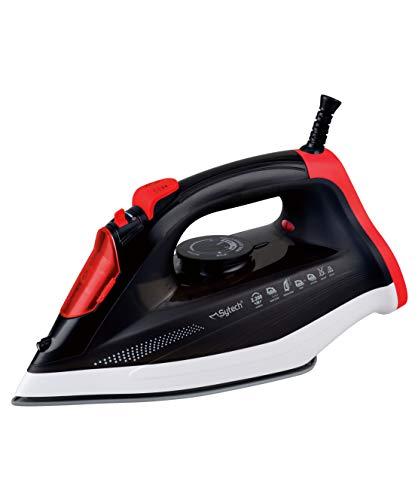Sytech Plancha de Vapor Profesional 2200W, Rojo, 12,5 x 28,8 x 16,8 cm