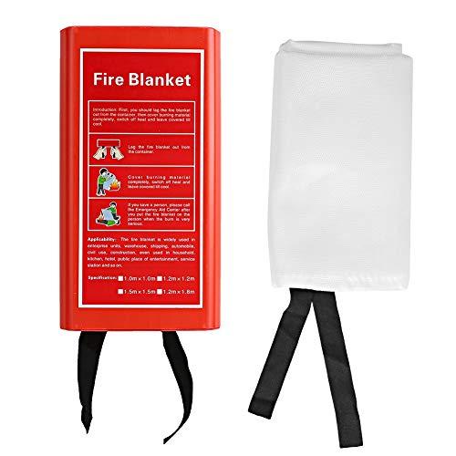 Manta ignífuga de fibra de vidrio ignífuga Escape de emergencia Manta aislante de calor Resistencia a altas temperaturas (550~1100)(1.8mx1.8m)