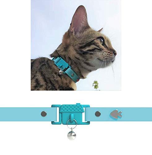Kittyrama Preisgekröntes Aqua Katzenhalsband. Wie in Vogue gesehen