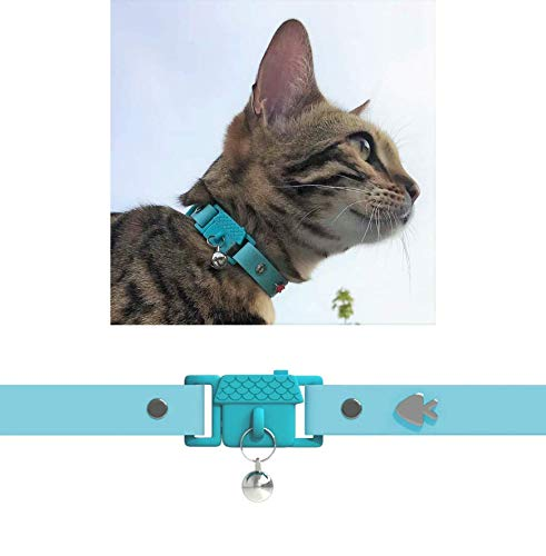 Kittyrama Aqua Cat Collar. Award Winning. As Seen in British Vogue. Other Styles and Colors Available. for Adult Cats