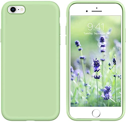 GUAGUA iPhone 6s Case iPhone 6 Case Liquid Silicone Soft Gel Rubber Slim Thin Light Microfiber Lining Cushion Texture Cover Shockproof Full Body...