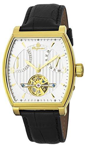 Burgmeister Herren Datum klassisch Automatik Uhr mit Leder Armband BM230-202