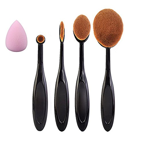 daorier Zahnbürste Fondation Form Sourcils Maquillage Make Up Pinsel Kosmetik Werkzeug Kits Set 4 Stück