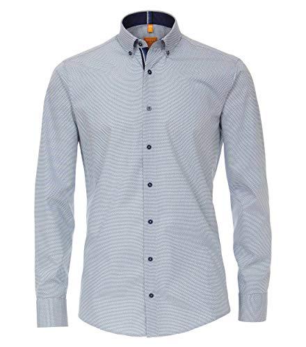 Redmond Herren Hemd mit modischem Druck Modern Fit 100% Baumwolle