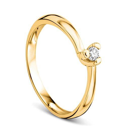 Orovi 9 k (375) oro amarillo 9 quilates (375) corte brillante redondo GH diamante