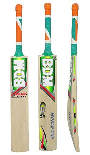 BDM WM 2011 Erwachsen-Größen Englisch Willow Wood Cricket-Schläger mit Tragetasche - Gewicht wählen