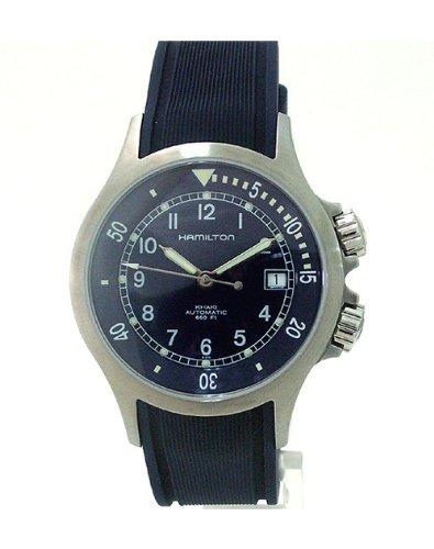 Hamilton H77515343 - Reloj analógico de caballero automático con correa de goma azul - sumergible a 200 metros