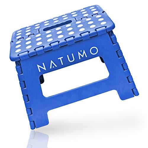 NATUMO® Premium Tritthocker Klapphocker 150kg - Faltbar Küchenhocker Klapptritt Bad-Hocker Klappbar Garten Klappstuhl Klein Kinderfußbank Kindertritt Aufstiegshilfe Waschbecken Für Kinder Erwachsene