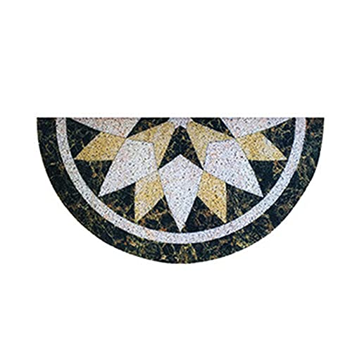 Xiaorong Halbrunde Marmor Textur Teppich rutschfeste Fußmatte Fußmatte Fußmatte Eingangstür Vorderseite Badezimmer Bodenmatten für Zuhause