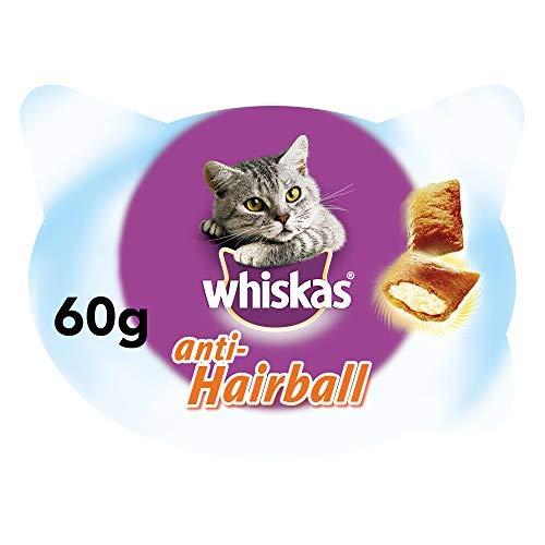 Whiskas Anti-Hairball de uso diario para evitar las Bolas de Pelo en Gatos (Pack de 8 x 60g)