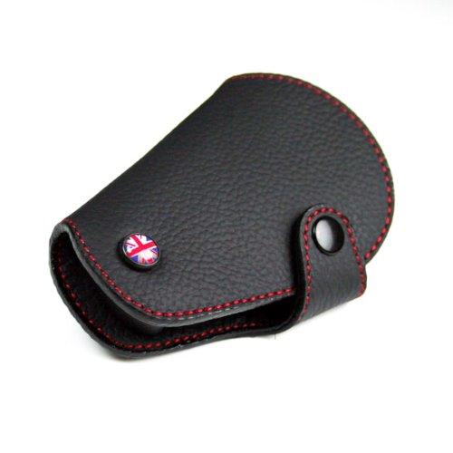 GoBadges Llavero de Piel de Punto Rojo para Mini Cooper R55, R56, R57, R58, R59, R60, R61