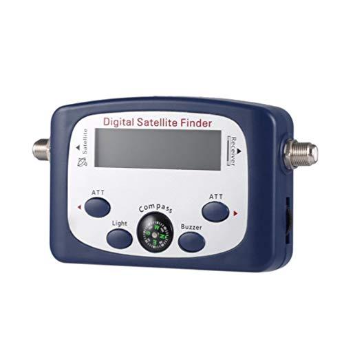 Buscador de satélite LCD Digital portátil JS-SF06 Medidor de Intensidad de señal Buscador de señal de satélite Herramienta de detección de satélite de TV (Azul)