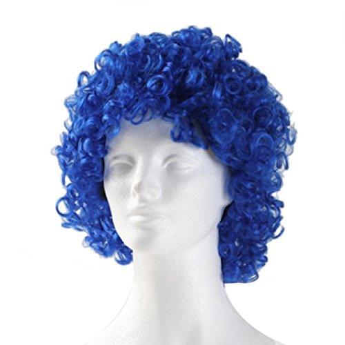 westbay perruque de clown moyen bouclés - bleu royal